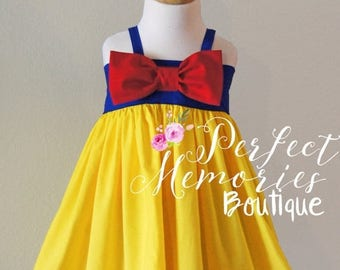 SALE Snow White Dress | Snow White Birthday Party | Girls Snow White Dress | Baby Princess Dress | Disney Princess | Halloween Costume | Dre