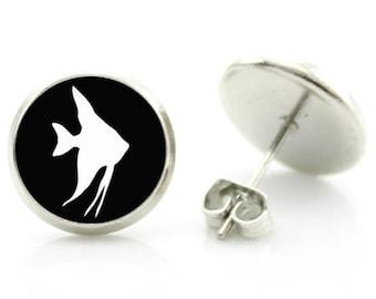 Angel Fish Earrings - New - Pair!