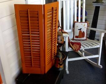 Vintage Wooden Shutters Fall Pumpkin Harvest Room Clutter Decor