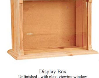 unfinished wood dollhouse miniature  roombox  display new comes assambled