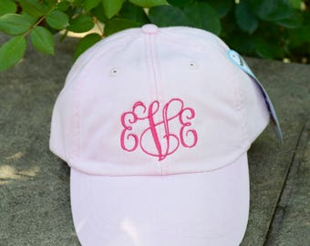 Monogrammed Baseball Cap || Embroidered Dog Lover Hat || Monogram Gift by Three Spoiled Dogs Made in USA