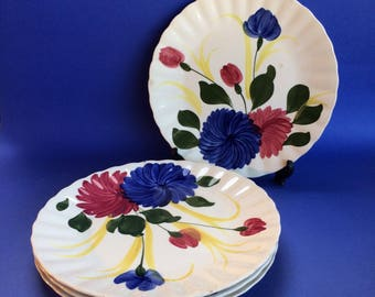 "4 x 9 1/4"" Dinner Salad Plates Blue Ridge Antique American Southern Pottery"