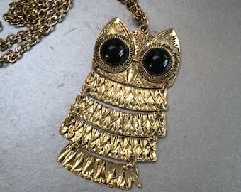 Golden Owl Vintage Necklace