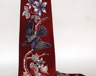 Bold graphic 1940s-'50s era Necktie by Currie -- Free Shipping!
