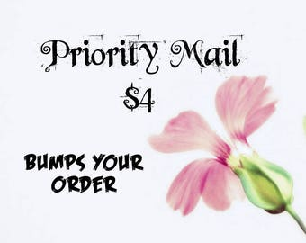 Bump your order, 2 to 3 day priority, ships next business day