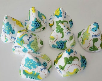 Set of 8 cones pee teepee (or pare Teepees) patterns for changing baby dinosaurs