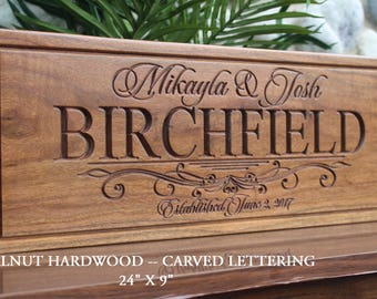 Personalized wedding gift for the couple-bride and groom gift-custom wedding gift sign-ENGRAVED wedding memento-save the date prop-sign-wood