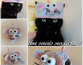 "PDF Pattern Crochet ""A mouse on the head!"""