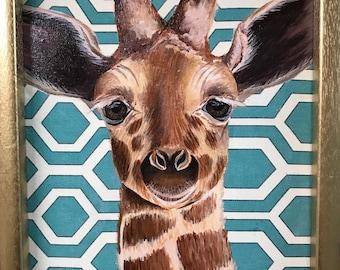 Baby Giraffe Painting