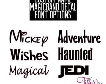 Custom Name Magic Band Decal - Pick the Font & Color
