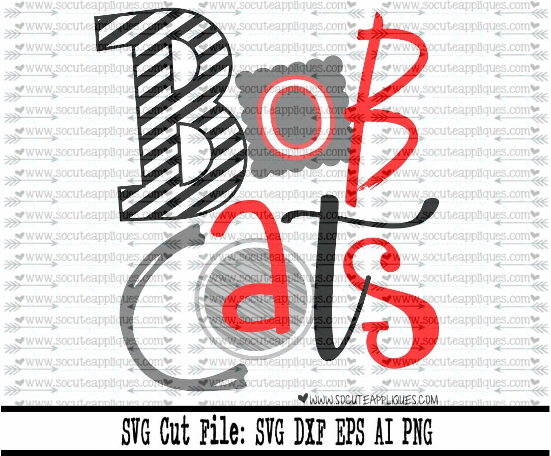 Bobcats Svg Cut File Cheer Svg School Spirit
