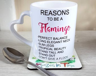 Reasons to be a flamingo mug flamingo coffee mug flamingo tea mug flamingo coffee cup funny flamingo gift pink flamingo lover flamingo mugs