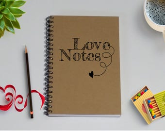 Couples Journal, Love Notes Journal Notebook, - 5 x 7 Journal, Love Diary, Love Journal, Couples Scrapbook, I love you because, Love letters