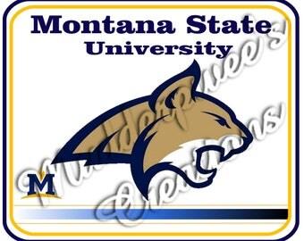 "Montana State University ""Bobcats"" new logo Mouse Pad"