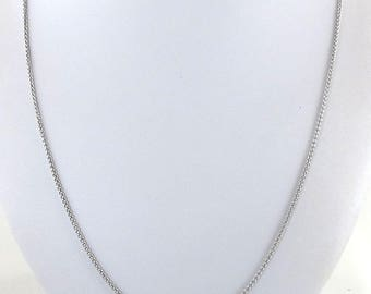 """14k White Gold Wheat Necklace - 14k  gold Wheat Chain 20"""" 4.3 grams"""