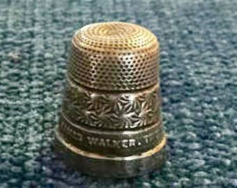 James Walker Sterling Silver Thimble