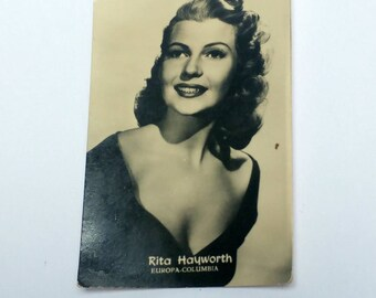 Vintage Rita Hayworth trading card