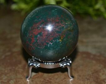 Natural Bloodstone Sphere, 48 MM, Bloodstone Sphere