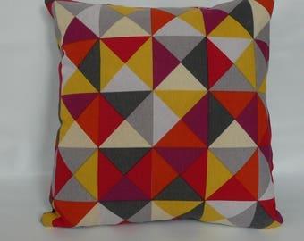 Pillowcase ,abstract throw pillow 16x16, colorful pillow cover, cushion cover, retro cushion cover, decorative  pillowcase ,