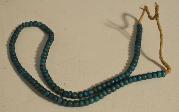 Beads African Blue White Heart Glass Beads Necklaces Jewelry Bracelets Blue White Heart Beads