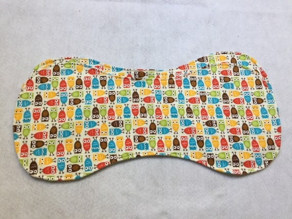 Flannel Baby Burp Cloths with little owls