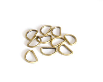 10 loops for bag in antique bronze 15 mm