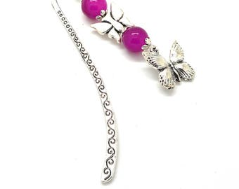 Brand pages fantasy silver, butterfly pink beads