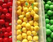 5/10pcs Fake candy, fruit, apple, lemon, charms, beads, flatback, decoden, scrapbooking, jewellery making, cabs, craft supplies,