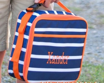 Monogrammed Lunchbox, Lunchboc, Lunch Box, Lunch Bag,  Back to School, Boys Lunch Box, Boys Lunch Bag