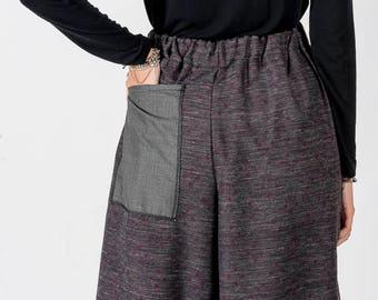 Trousers MoD. Poppy/grey melange/Polka dots Purple