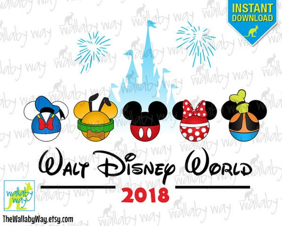 Walt Disney World Printable Iron On Transfer or Use as Clip