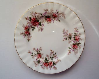 Vintage Royal Albert Lavender Rose Tea Plates or Cake Plates. Vintage Side Plate. Trio Spares With Pink Roses. Great For A Pretty Tea Party