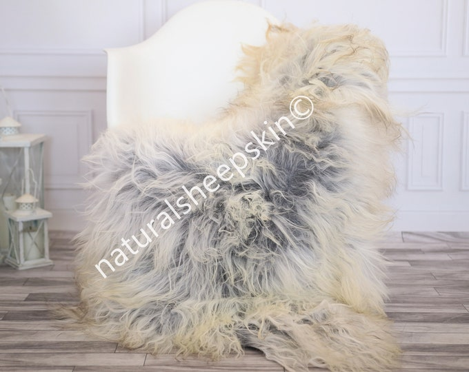 Icelandic Sheepskin | Real Sheepskin Rug | Gray Sheepskin Rug | Fur Rug | Homedecor #febisl2