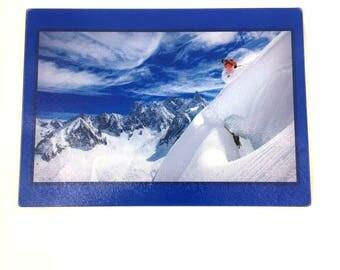 Cutting Boards , Skier Winter Snow Mountains,  Kitchen Decor , Mountain Home Decor