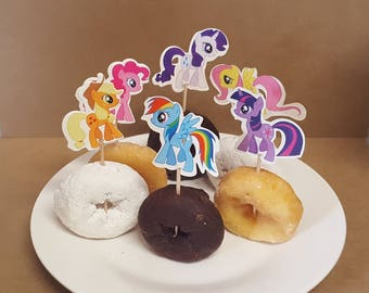 My Little Pony Cupcake Toppers 12 pcs birthday party decorations