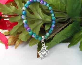 Girls Unicorn Stretchy Bracelet, Girls bracelets, kids bracelets,Unicorn bracelets, girls party favors