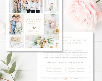 Wedding Photographer Flyer Design, Wedding Photography Marketing Template, Instagram Marketing, Social Media, INSTANT DOWNLOAD!