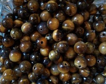 6mm Tigers Eye Beads, Semi Precious Beads, Craft Supplies
