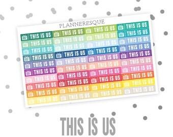 40 TV Label Stickers , Erin Condren Planner Stickers, Happy Planner, TV Stickers, TV icons - L 0002