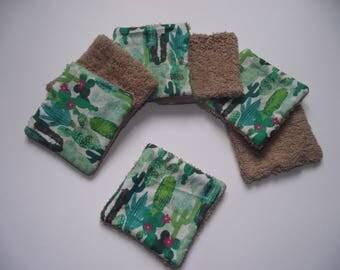 Set of 7 squares cleansing - Cactus