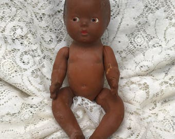 Composition Black Baby Doll Parts - Composition Doll