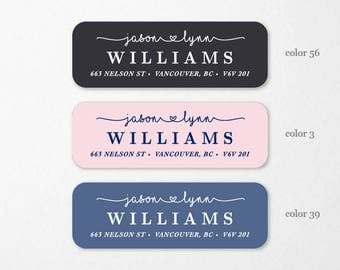 Personalized Return Address Labels, Custom Self-Adhesive Labels, Return Address Stickers, Return Address, Return Labels, RAL11