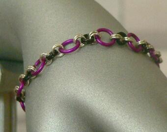 Purple Chain Mail Bracelet, Chainmail Bracelet, Chainmail Jewellery, Chain Mail Jewellery, Chain Mail Jewelry, Chainmail Jewelry
