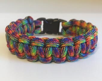 Rainbow Paracord Bracelet
