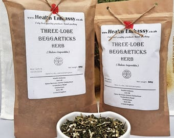 Three-Lobe Beggarticks Herb (Bidens tripartita) - Health Embassy - Organic