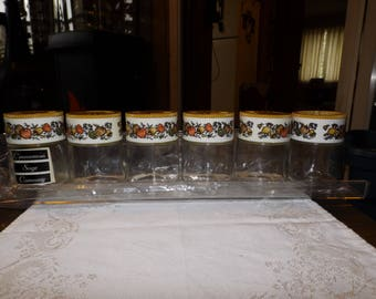 Vintage, Spice Jars, Spice Rack, Spice Rack With Jars, NOS, Retro Kitchen, Gemco Ware, New Old Stock, Gift For Her, Farmhouse, Mid Century