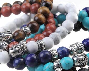 Lava Buddha bracelet, Amethyst Buddha bracelet, Men bracelet, Lava bracelet, Protection bracelet, Meditation bracelet, Unisex bracelet
