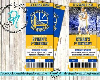 Golden State Invitation / Basketball Invitation