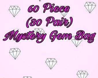 60 Piece (30 Pair) Mystery Gem Bag