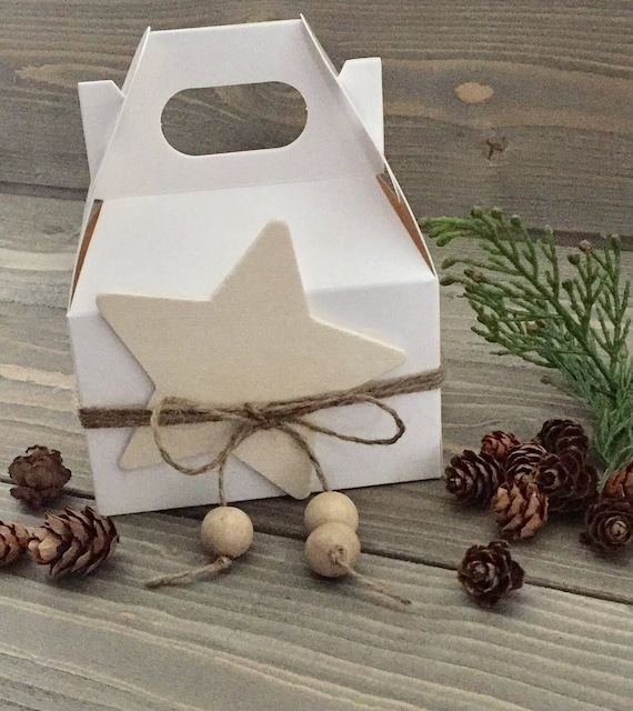 Cookie Box - Candy Box - Ornament Box - DIY KIT- Comes with everything - Kit for Christmas Goodies - Box for Goodies - Candy Box - Star  Box